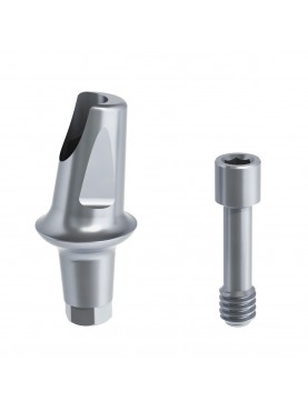Angled titanium abutment