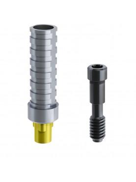 Pilier provisoire titane anti-rotationnel connectique compatible Replace®