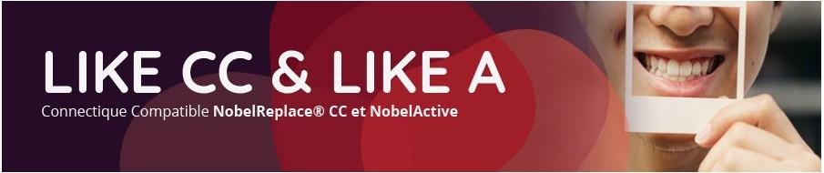 LIKE A pièces prothétiques compatibles NobelActive